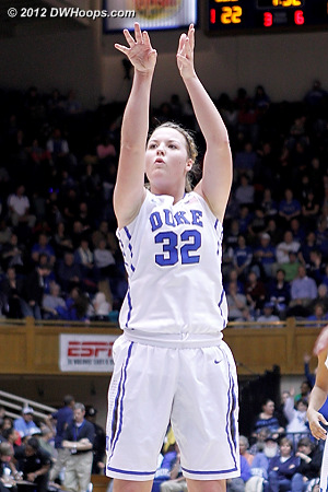 Liston's three point play put Duke up 23-12  - Duke Tags: #32 Tricia Liston