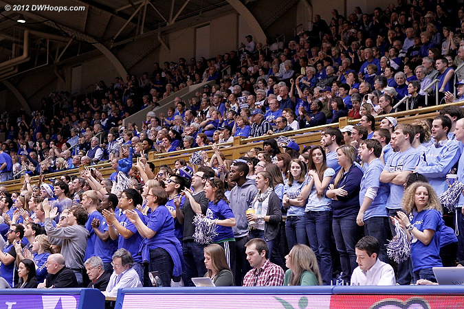 Student sections adjacent  - Duke Tags: Fans