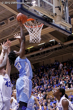 Broomfield hits from inside, 48-24 Devils  - UNC Players: #33 Laura Broomfield