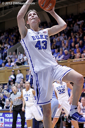 Vernerey hits a layup  - Duke Tags: #43 Allison Vernerey