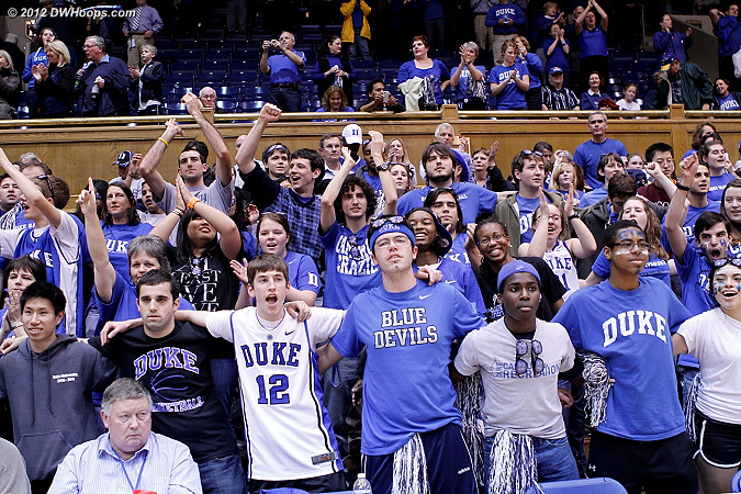 Celebrating a 40 point Duke win over UNC  - Duke Tags: Fans