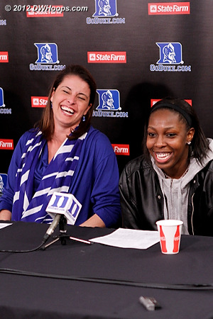 Chelsea and Coach P laugh when Rob tells them that her three point shot was by the