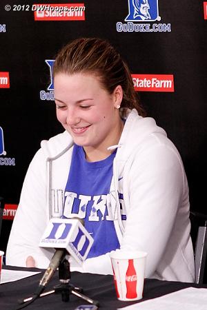 Tricia laughs too  - Duke Tags: #32 Tricia Liston