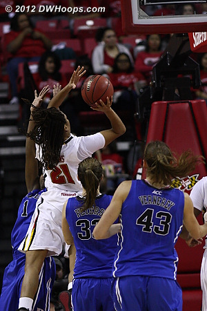 A Thomas jumper tied the game early in the second half.  - MD Players: #25 Alyssa Thomas