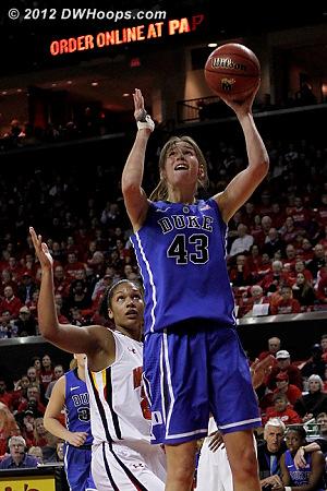 Vernerey layup puts Duke up 40-36  - Duke Tags: #43 Allison Vernerey