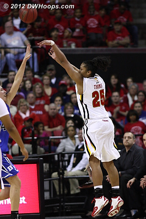 An Alyssa Thomas trey trims Duke's lead to 45-43  - MD Players: #25 Alyssa Thomas