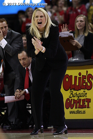 Maryland takes the lead  - MD Players: Head Coach Brenda Frese