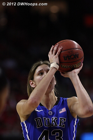Alli hit both free throws to cut Maryland's lead to one  - Duke Tags: #43 Allison Vernerey