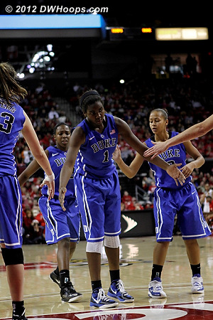Williams made both free throws, 58-57 Maryland  - Duke Tags: #1 Elizabeth Williams