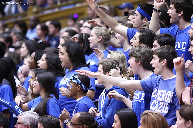 A very nice student crowd tonight!  - Duke Tags: Fans