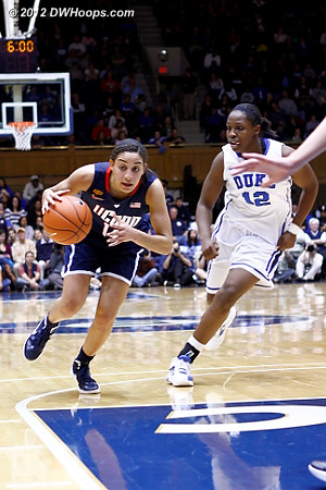 DWHoops Photo  - Duke Tags: #12 Chelsea Gray - CONN Players: #14 Bria Hartley