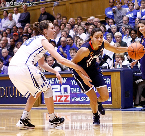 DWHoops Photo  - Duke Tags: #33 Haley Peters - CONN Players: #14 Bria Hartley