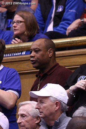 Mike Currie in the stands  - Duke Tags: Fans