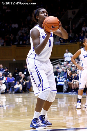 Williams was a perfect 4-4 from the line  - Duke Tags: #1 Elizabeth Williams