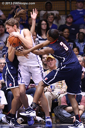 Vernerey fouled in a battle for a rebound
