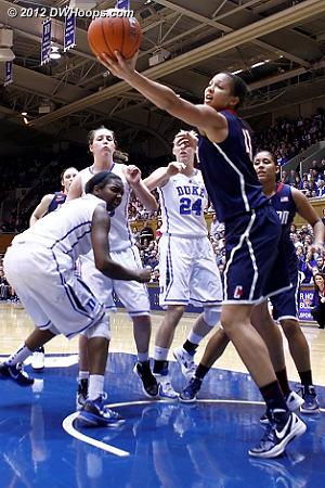 Stokes also got the rebound  - Duke Tags: #1 Elizabeth Williams - CONN Players: #41 Kiah Stokes
