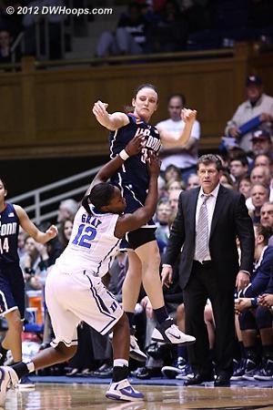 Duke didn't give up  - Duke Tags: #12 Chelsea Gray - CONN Players: #34 Kelly Faris, Head Coach Geno Auriemma