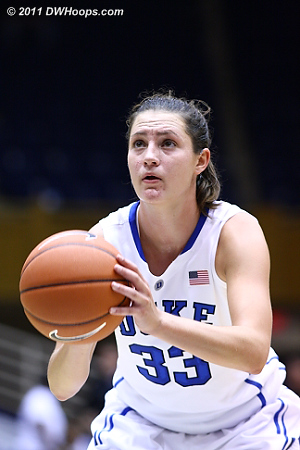 Peters on the stripe  - Duke Tags: #33 Haley Peters