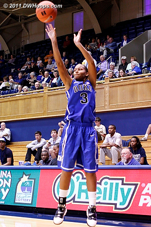Selby now in blue takes another from long range  - Duke Tags: #3 Shay Selby