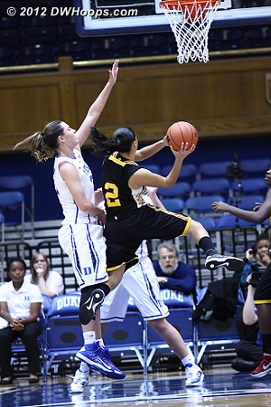 Shaw couldn't buy a hoop  - Duke Tags: #33 Haley Peters - SHAW Players: #2 Isayra Diaz