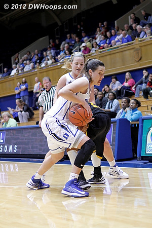 Haley Peters grabs a steal out of a doubleteam  - Duke Tags: #33 Haley Peters