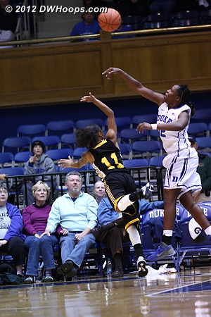 Foul called on Gray  - Duke Tags: #12 Chelsea Gray - SHAW Players: #11 Diamond Mitchell
