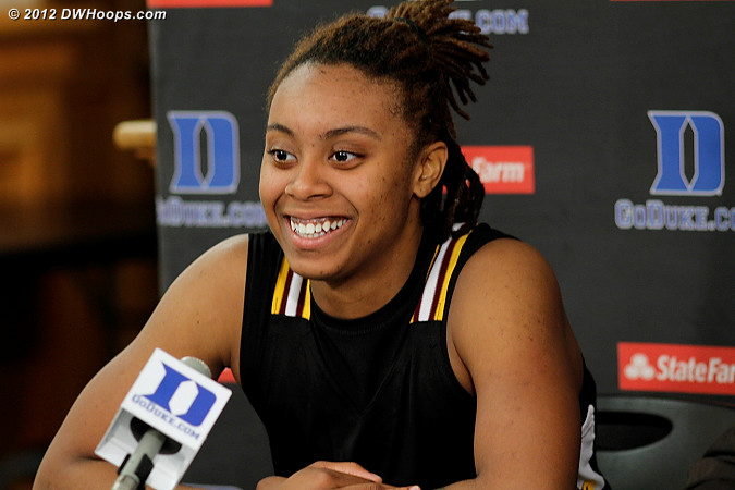 Post game press conference  - SHAW Players: #33 Crystal Wilson