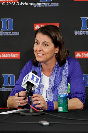 Post game press conference  - Duke Tags: Joanne P. McCallie