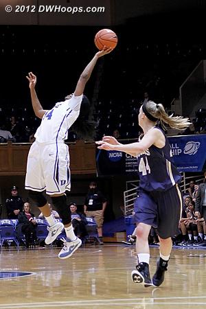Soaring to grab a wayward pass  - Duke Tags: #14 Ka'lia Johnson