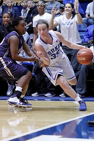 Frush drives the baseline  - Duke Tags: #35 Jenna Frush