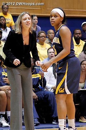 DWHoops Photo  - CAL Players: Head Coach Lindsay Gottlieb, #15 Brittany Boyd