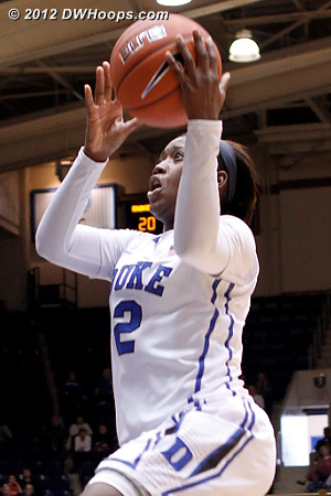 Duke goes up 22-13, time out Cal  - Duke Tags: #2 Alexis Jones