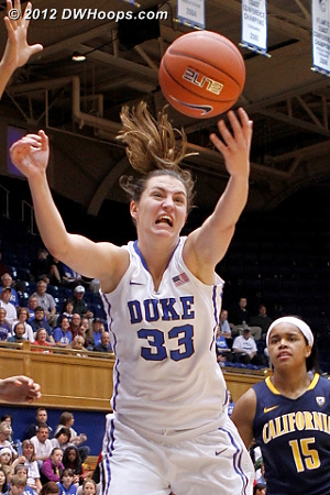 Striving for a rebound  - Duke Tags: #33 Haley Peters
