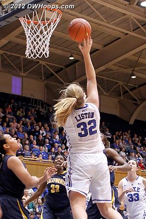Liston breaks a 4 1/2 minute Duke scoring drought  - Duke Tags: #32 Tricia Liston