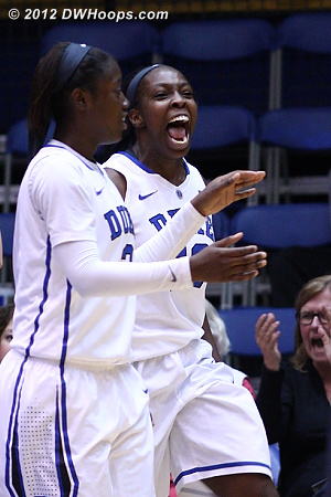 Chelsea Gray reacts after drawing her third charge of the game.
