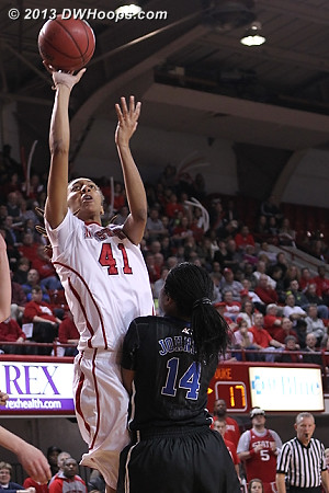 Daniel drew the foul but was empty at the stripe  - Duke Tags: #14 Ka'lia Johnson - NCSU Players: #41 Lakeesa Daniel