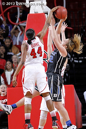 Rejection by Kody Burke (all ball)  - Duke Tags: #32 Tricia Liston - NCSU Players: #44 Kody Burke