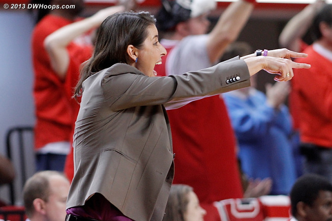 Duke coach Joanne P. McCallie calls a play  - Duke Tags: Joanne P. McCallie