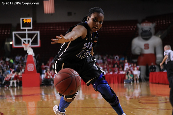 Richa Jackson tracks down a loose ball