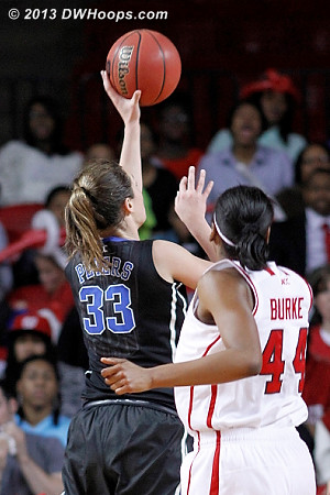 This Haley Peters layup with 3:28 left in the first put Duke back in front for good  - Duke Tags: #33 Haley Peters