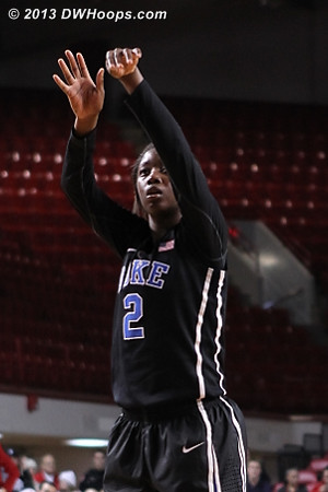 State chose to put freshman Alexis Jones on the line, she was 3-4 on free throws in the final minute  - Duke Tags: #2 Alexis Jones
