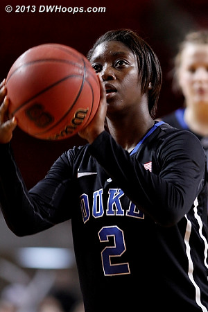 Jones makes it a three possession game with under 30 seconds remaining  - Duke Tags: #2 Alexis Jones