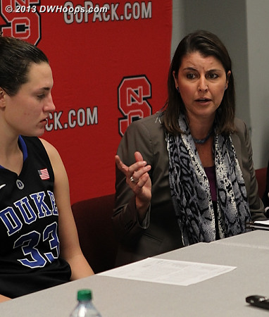 Post game press conference  - Duke Tags: #33 Haley Peters, Joanne P. McCallie