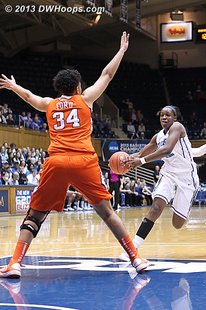 Gray ball fake freezes Ford  - Duke Tags: #12 Chelsea Gray - CLEM Players: #34 Natiece Ford