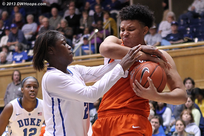 Tie-up  - Duke Tags: #2 Alexis Jones - CLEM Players: #34 Natiece Ford