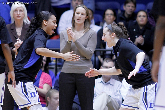 Chloe Wells was happy to be back in Duke's starting lineup