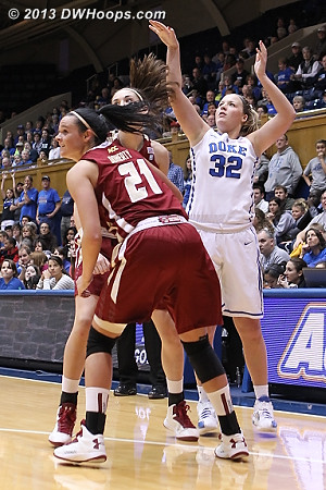 Tricia Liston was well guarded but drained a three anyway
