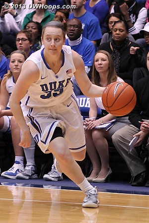 Jenna Frush passed up an open shot, and would later be rewarded with another opportunity