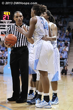 Xylina makes her case to Billy Smith  - UNC Players: #34 Xylina McDaniel