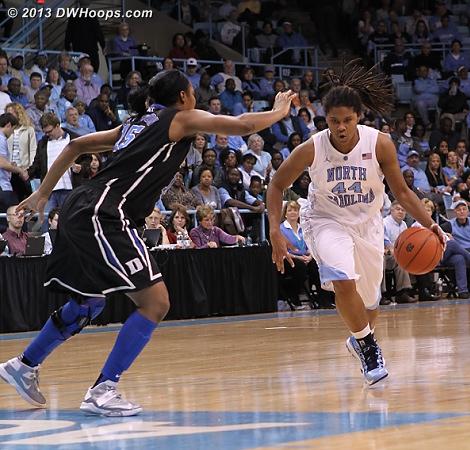 ACCWBBDigest Photo  - Duke Tags: #15 Richa Jackson - UNC Players: #44 Tierra Ruffin-Pratt